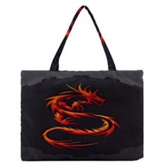 Dragon Medium Zipper Tote Bag