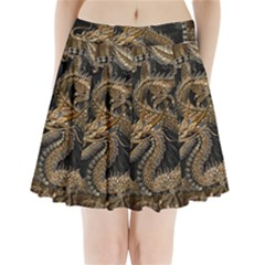 Dragon Pentagram Pleated Mini Skirt