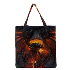 Dragon Legend Art Fire Digital Fantasy Grocery Tote Bag