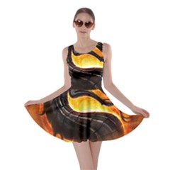 Dragon And Fire Skater Dress
