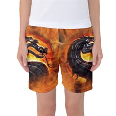 Dragon And Fire Women s Basketball Shorts