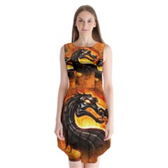 Dragon And Fire Sleeveless Chiffon Dress