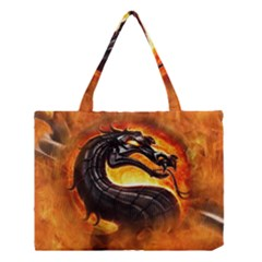Dragon And Fire Medium Tote Bag