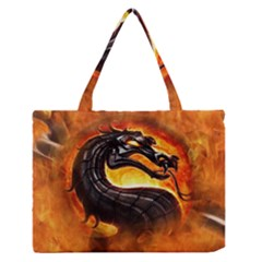 Dragon And Fire Medium Zipper Tote Bag