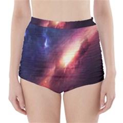 Digital Space Universe High-Waisted Bikini Bottoms