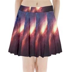 Digital Space Universe Pleated Mini Skirt