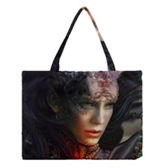 Digital Fantasy Girl Art Medium Tote Bag