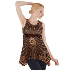 Decorative Antique Gold Side Drop Tank Tunic