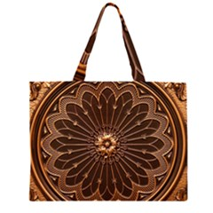 Decorative Antique Gold Large Tote Bag