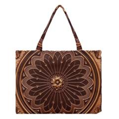 Decorative Antique Gold Medium Tote Bag