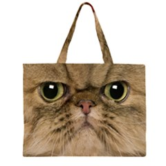 Cute Persian Cat,face In Closeup Large Tote Bag