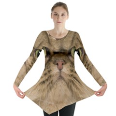 Cute Persian Cat,face In Closeup Long Sleeve Tunic