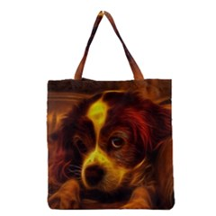 Cute 3d Dog Grocery Tote Bag