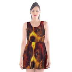 Cute 3d Dog Scoop Neck Skater Dress