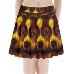 Cute 3d Dog Pleated Mini Skirt