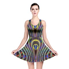 Curves Color Abstract Reversible Skater Dress
