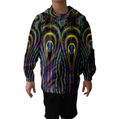 Curves Color Abstract Hooded Wind Breaker (Kids)