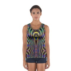 Curves Color Abstract Women s Sport Tank Top