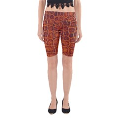 Crocodile Skin Texture Yoga Cropped Leggings