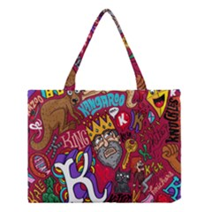 K Pattern Cartoons Medium Tote Bag