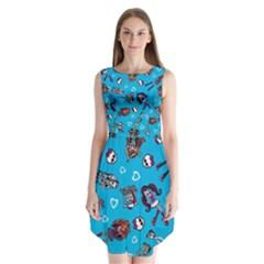 Large Sleeveless Chiffon Dress