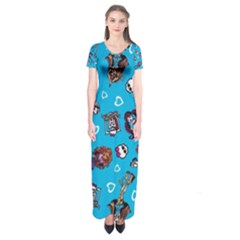 Large Short Sleeve Maxi Dress