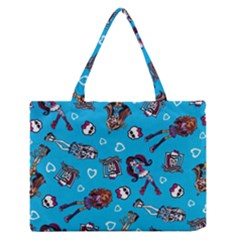 Large Medium Zipper Tote Bag