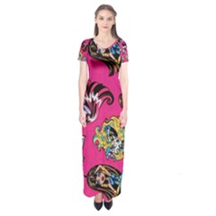 Large 1 Short Sleeve Maxi Dress