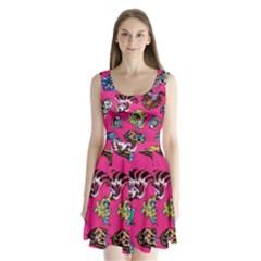 Large 1 Split Back Mini Dress