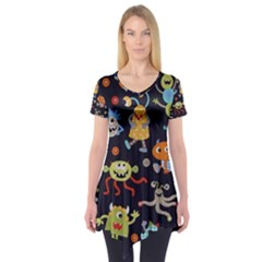 Large Pablic Cartoons Short Sleeve Tunic