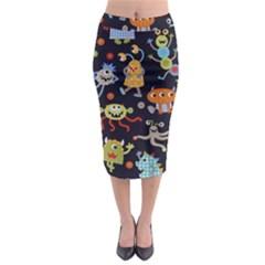 Large Pablic Cartoons Midi Pencil Skirt