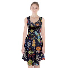 Large Pablic Cartoons Racerback Midi Dress