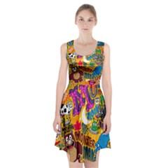 M Pattern Racerback Midi Dress