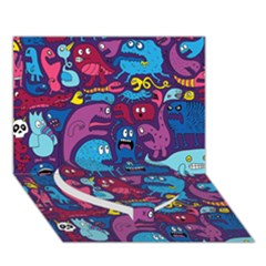 Mo Monsters Mo Patterns Heart Bottom 3d Greeting Card (7x5)