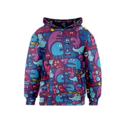 Mo Monsters Mo Patterns Kids  Pullover Hoodie