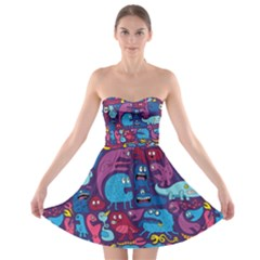 Mo Monsters Mo Patterns Strapless Bra Top Dress