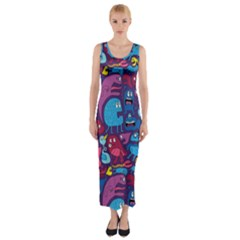 Mo Monsters Mo Patterns Fitted Maxi Dress