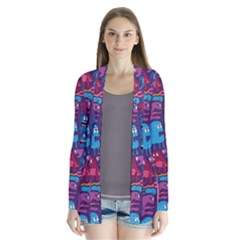 Mo Monsters Mo Patterns Drape Collar Cardigan