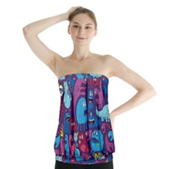 Mo Monsters Mo Patterns Strapless Top