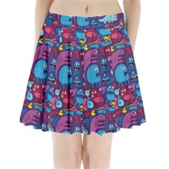 Mo Monsters Mo Patterns Pleated Mini Skirt