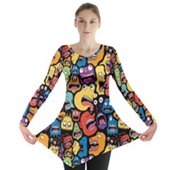 Monster Faces Long Sleeve Tunic