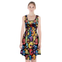 Monster Faces Racerback Midi Dress