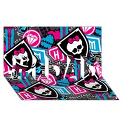 Monster High #1 Dad 3d Greeting Card (8x4)
