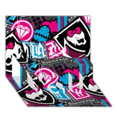 Monster High Miss You 3d Greeting Card (7x5)