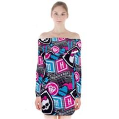 Monster High Long Sleeve Off Shoulder Dress