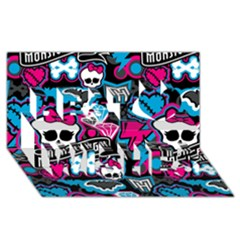 Monster High 03 Best Wish 3d Greeting Card (8x4)