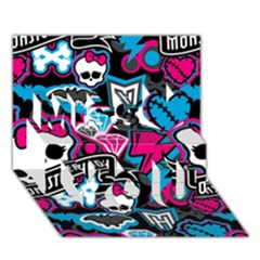 Monster High 03 Miss You 3D Greeting Card (7x5)