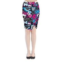 Monster High 03 Midi Wrap Pencil Skirt