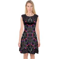 Sssssssju (3)iigb Capsleeve Midi Dress