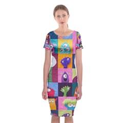 Monster Quilt Classic Short Sleeve Midi Dress